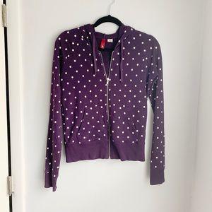 H&M Purple Polka Dot Hoodie